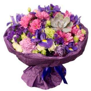 Букет «Фиолетовый кристалл»