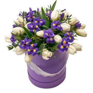 Цветы в коробке «Танец бабочек»