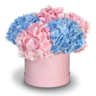 Цветы в коробке «Цветочный бульвар»