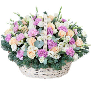 Цветы в корзинке «Свидание»