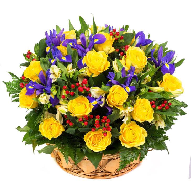"""Цветы в корзинке """"Загадочные огоньки"""""""